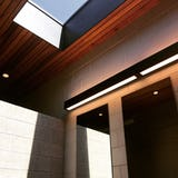 Northern michigan modern architecture campground camp petosega restroom