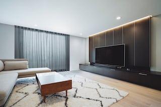 Iso ideas south bay house remodel family room tv wall e