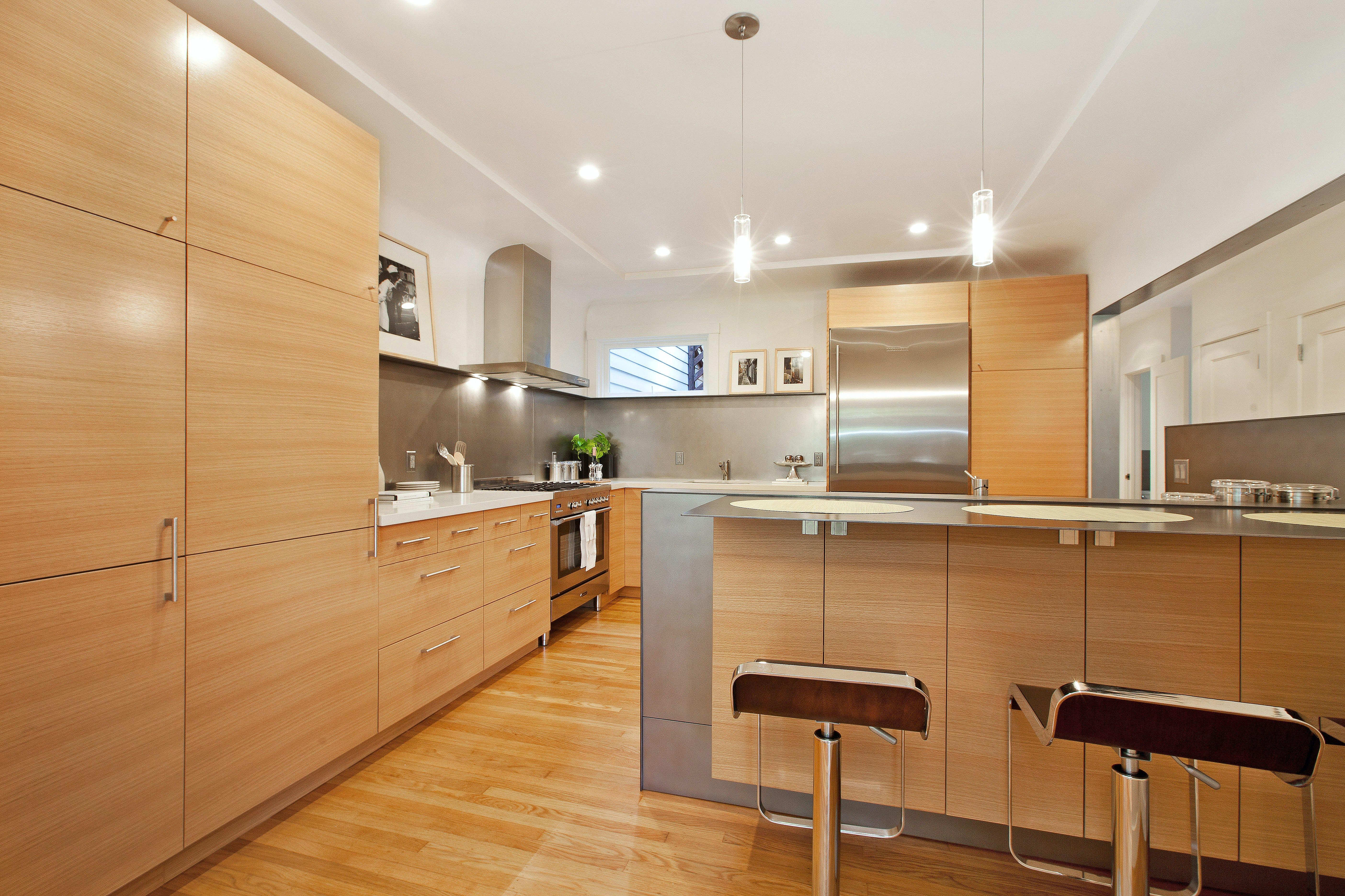 Builtform construction 20th st kitchen wood steel modern