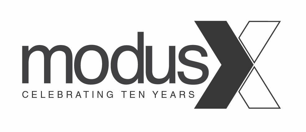Modus studio 10 year logo