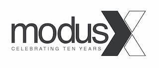 Modus studio 10 year logo