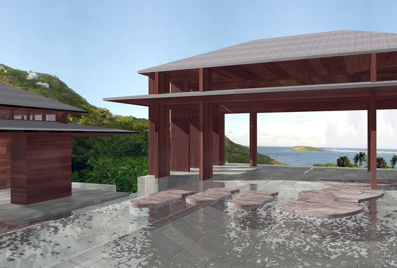Fixed island villa