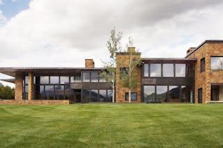 Aspen house rear lawn