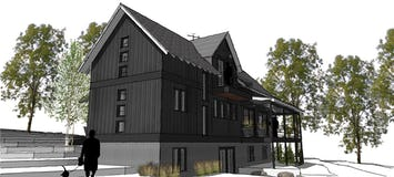 Modern farmhouse petoskey michigan architect