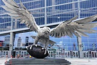 Falcons statue