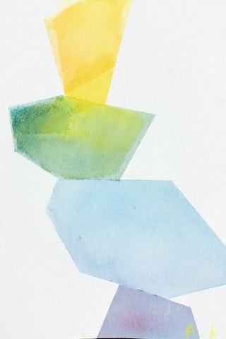 Feifei feng art watercolor abstract rocks