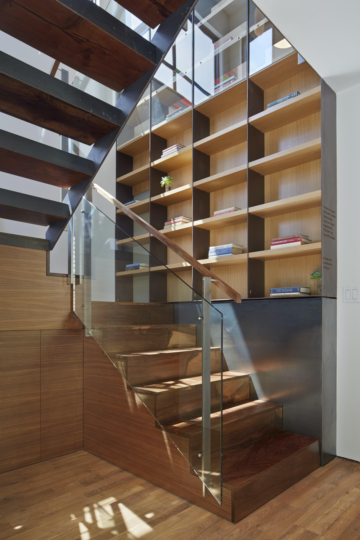 Builtform construction  steelhouse1 2 stairs wood modern glass