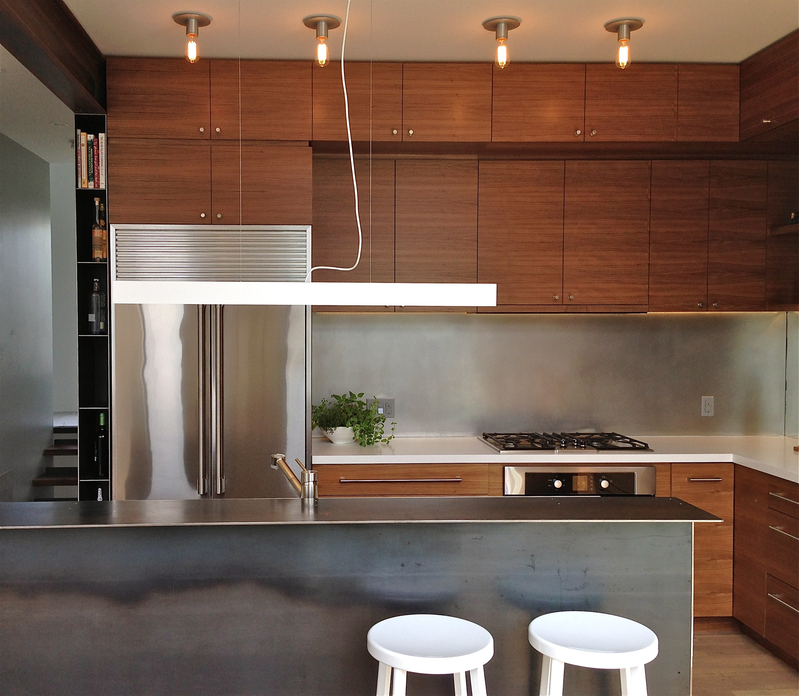 Builtform construction  steelhouse1 2 wood kitchen modern steel