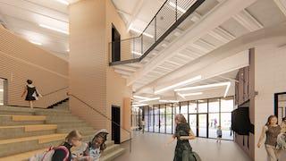 06 modus studio england elementary interior rendering