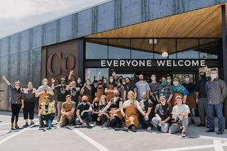 Modus studio ozark natural foods opening group shot