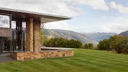 Aspen house side lawn
