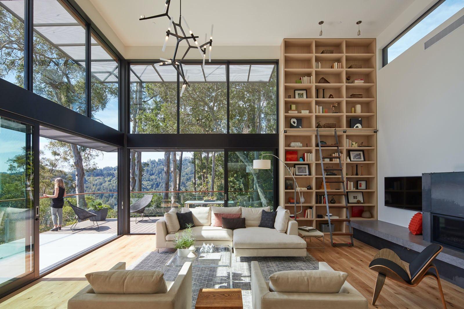 Builtform construction 441tamresidence full living room modern shelf smaller