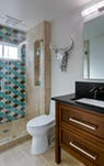 Studio karliova south court remodel interior design hall powder bath