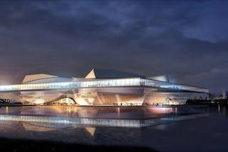 Jinan opera house eveing