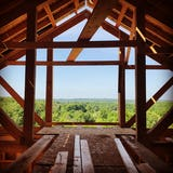 Six mile lake cabin construction photo 1