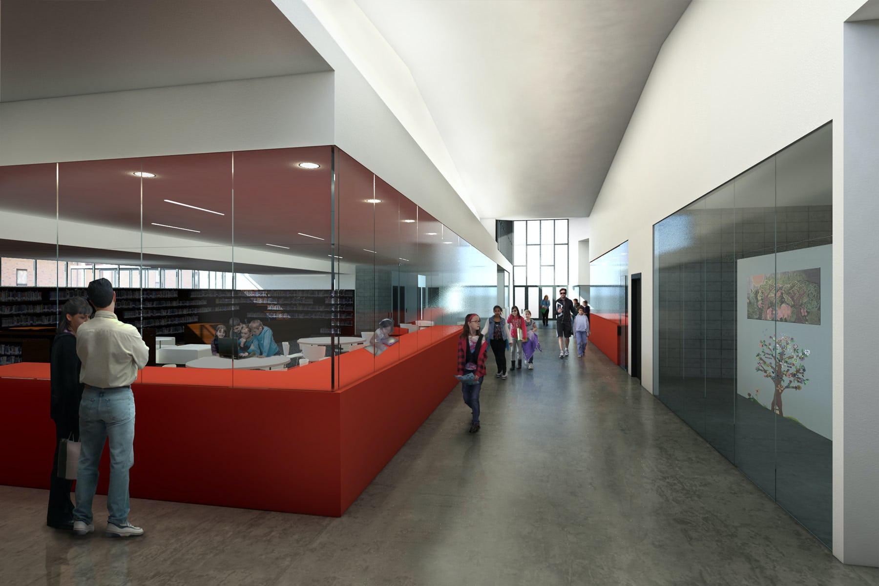 13 48 flippin rendering art library hallway
