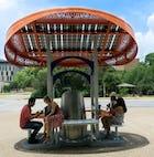 Solar charging station back