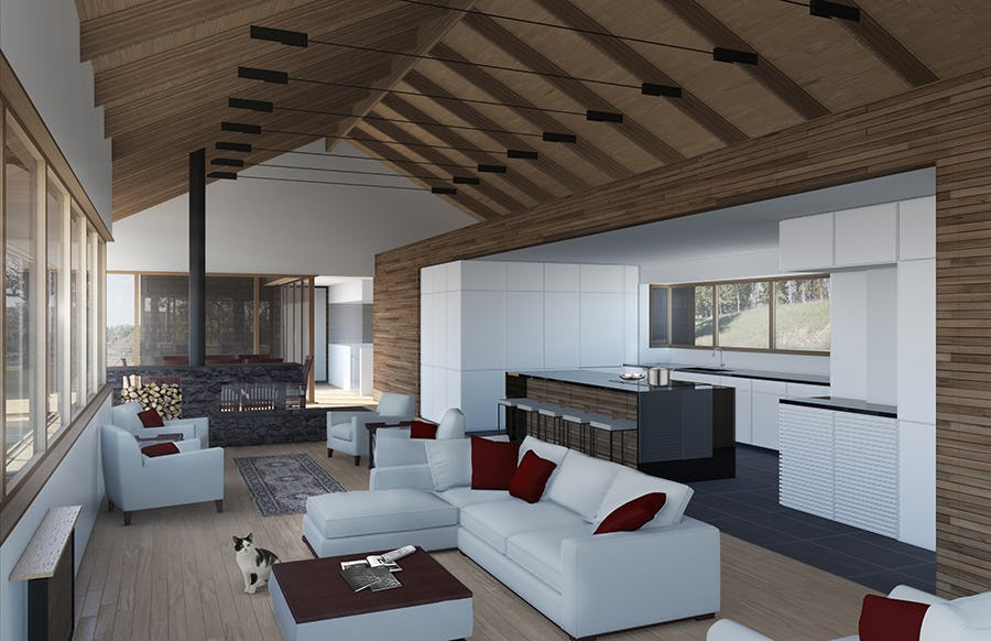 13 28 larsen residence interior rendering living room to kitchen web