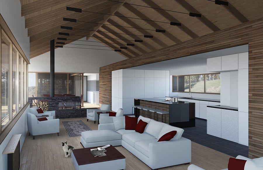 13 28 larsen residence interior rendering living room to kitchen web