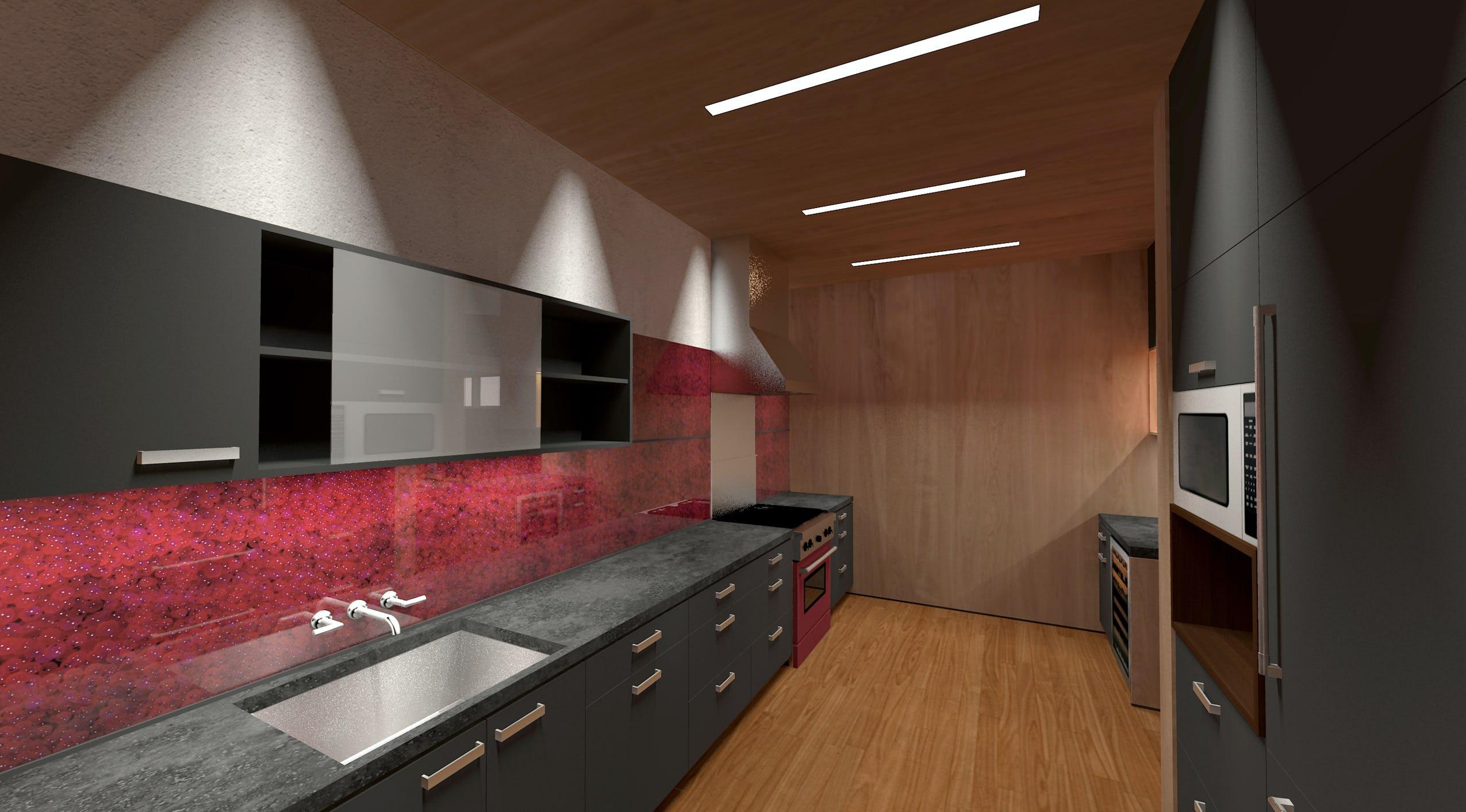 Kitchen north perspective