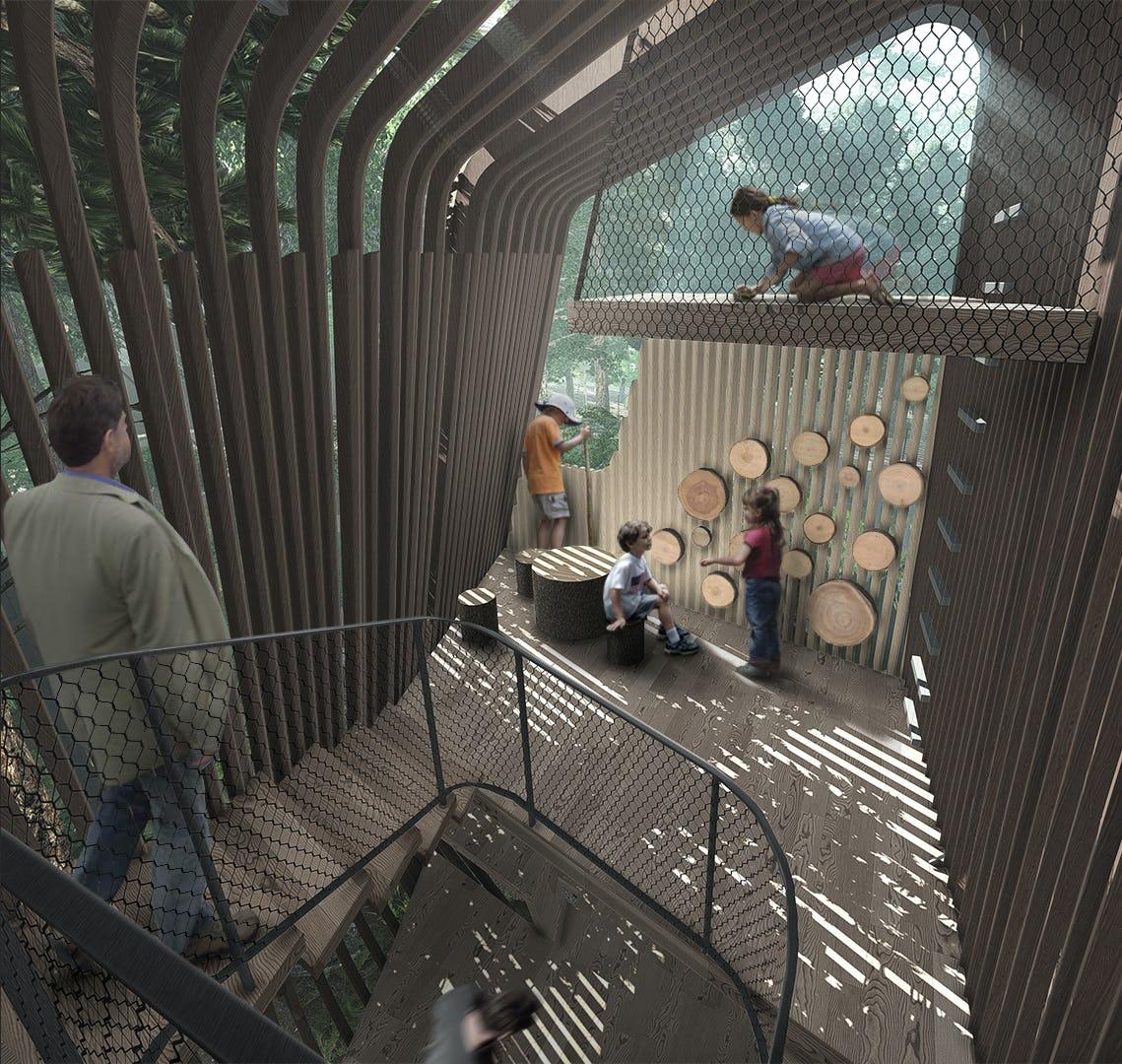Treehouse interior rendering 04