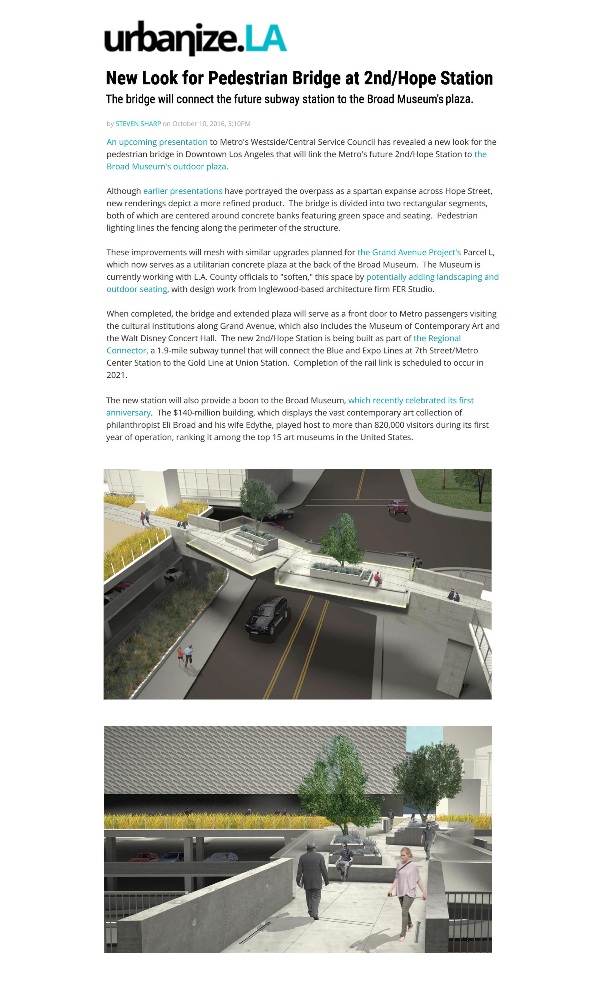 A new look for pedestrian bridge