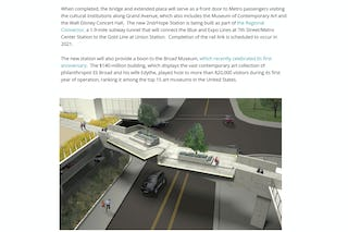 A new look for pedestrian bridge