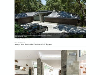 A feng shui renovation ouside of los angeles