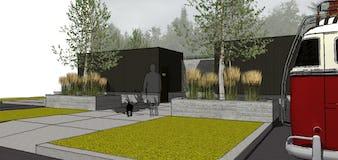 Northern michigan modern architecture campground camp petosega